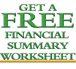 financial summary worksheet