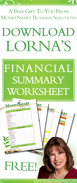 free financial summary worksheet