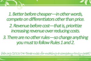 better before cheaper business success