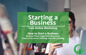 how to start a business live online workshop