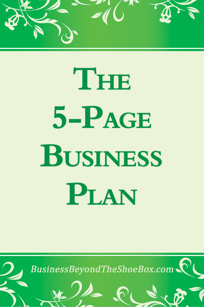 The 5-Page Business Plan 1