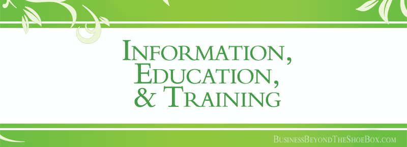 The Difference between Information, Education, and Training
